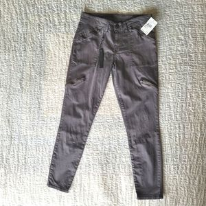 Blank NYC Gray Moto Utility Ankle Cropped Pants